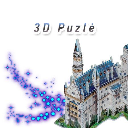 Puzlė, 3D puzlė, 3D dėlionės