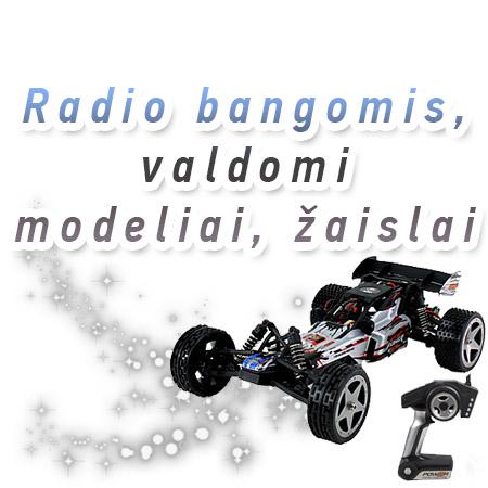 Radio bangomis valdomi modeliai, žaislai