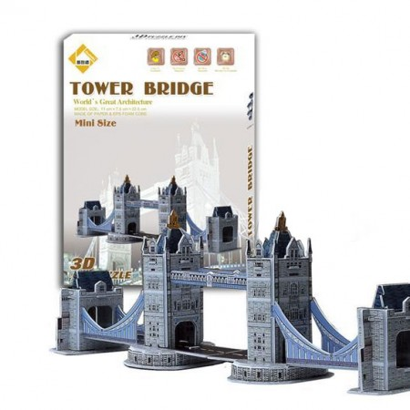 3D Dėlionė Tower Bridge